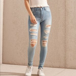 Pacsun mae blue ripped jeggings
